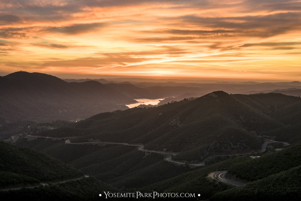 Orange Sierra Sunset over 120 @ Don Pedro Lake - Sierra Foothills Photos