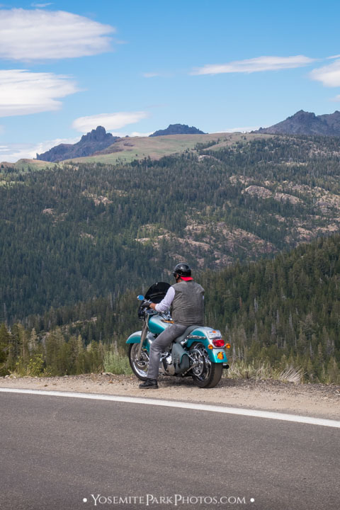 Motorcycle Rider Pulled Over - Ebbetts Pass Road trip