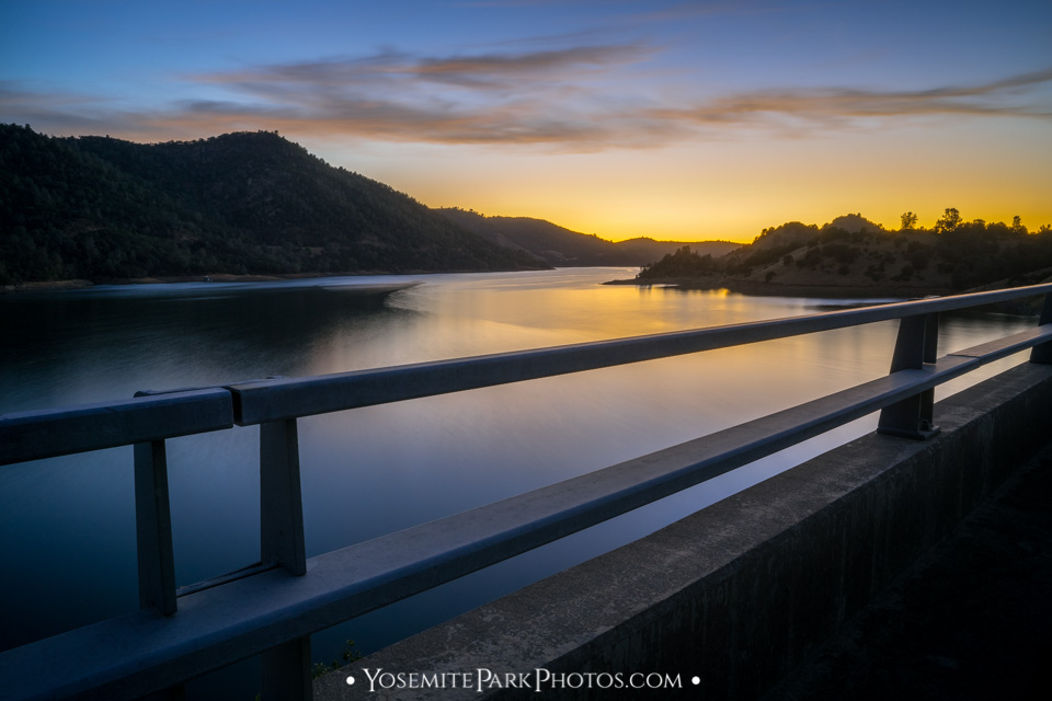 Don Pedro Lake at Sunset, From Bridge