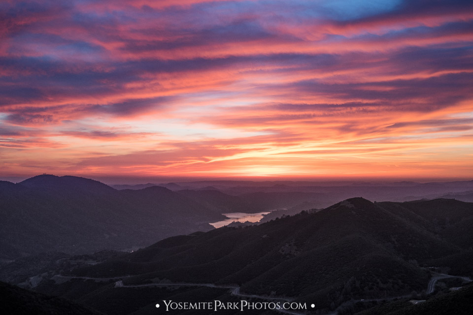 Colorful Pink and orange Clouds in the Foothills- Best Sierra Sunsets