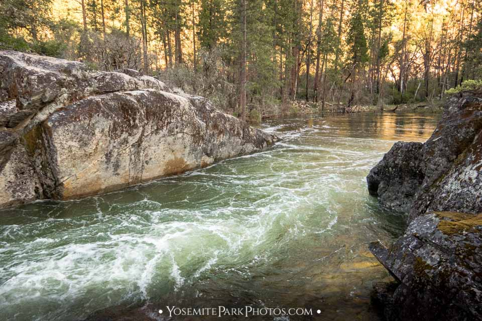 Granite Gorge pool in late afternoon - Tuolumne River