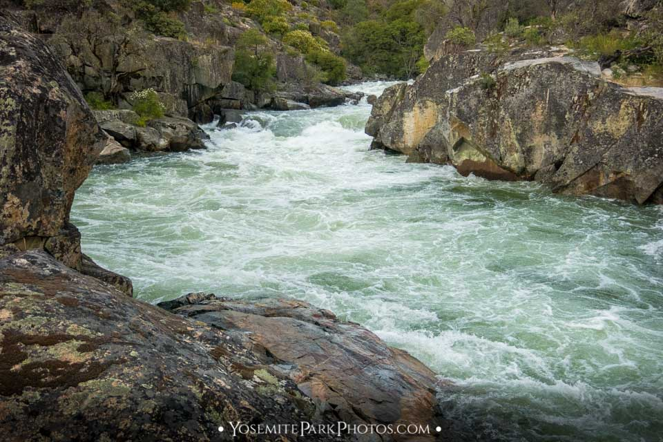 Whitewater through the rock canyon - Granite Gorge photos