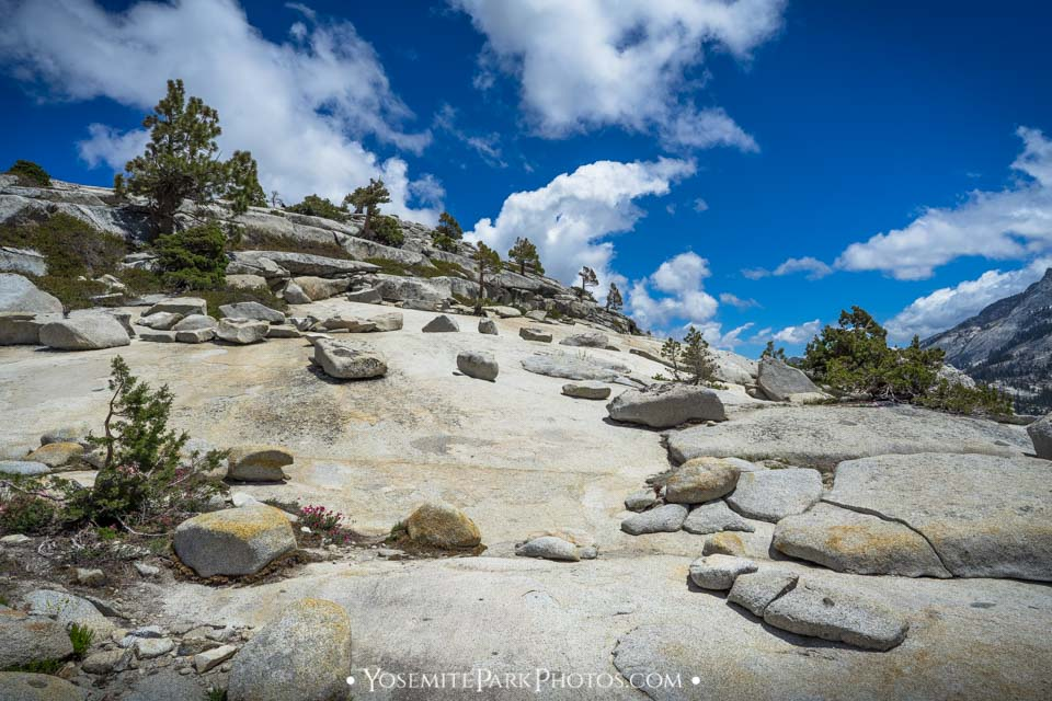 Small granite mountain and boulders above the lot - Olmsted Point Photos