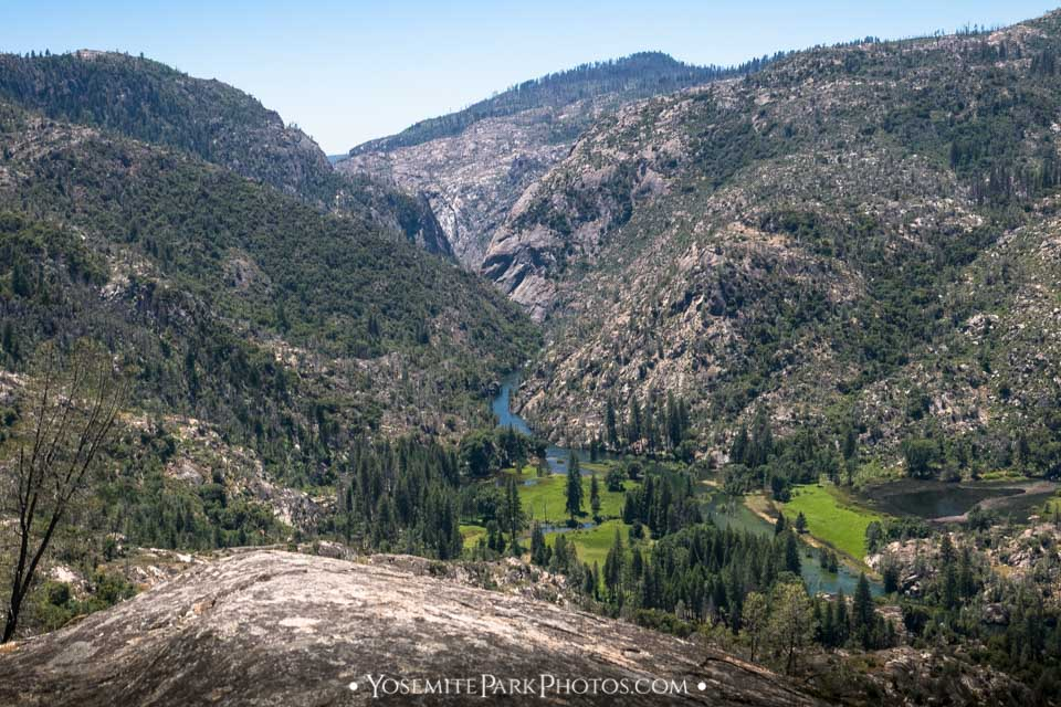 Green valley view, from above on Evergreen Road - Poopenaut Valley hike photos