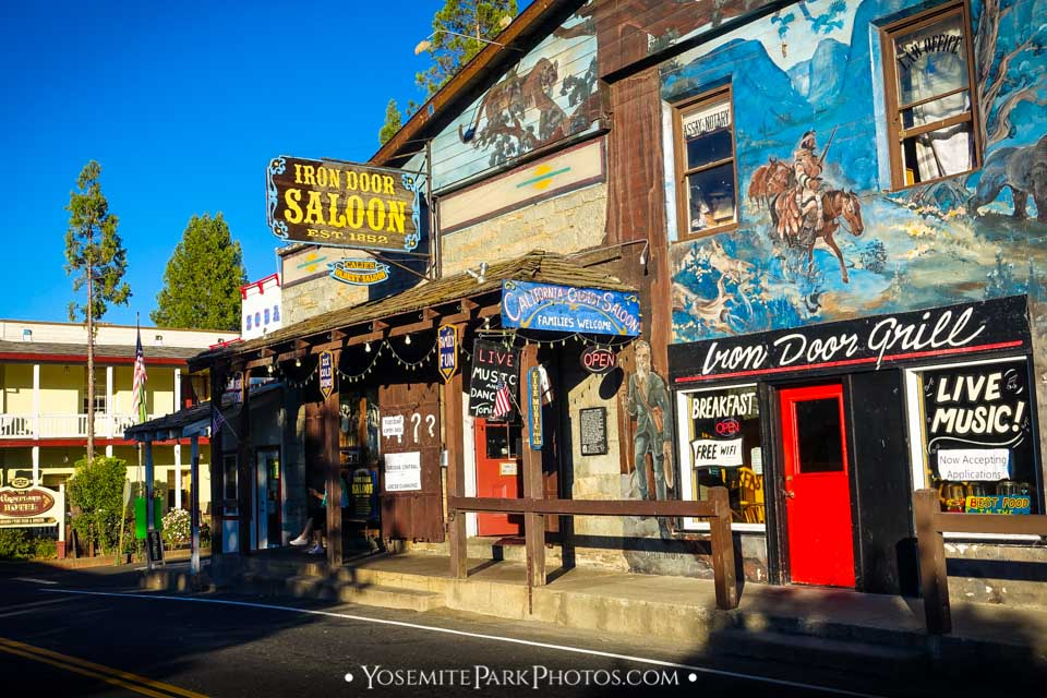 Iron Door Saloon in Downtown Groveland - Nearby Yosemite