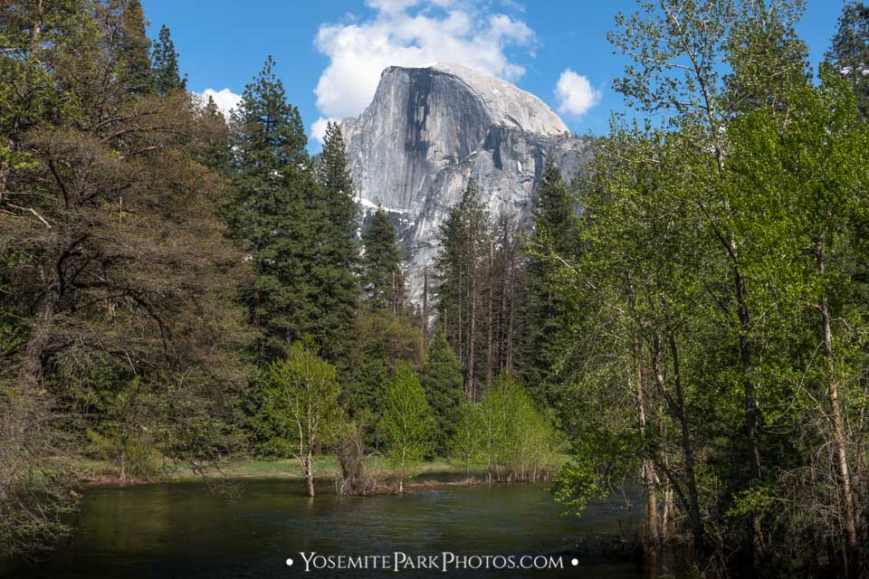 Merced River with Half Dome, taken from Sentinel Bridge