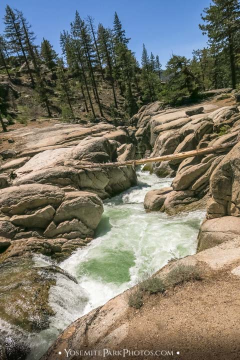 Rock crevice with Middle Fork Stanislaus River rapids - Sonora Pass photos
