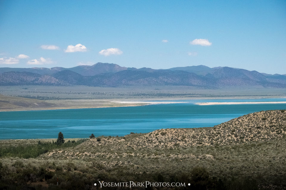Mono Lake Waters From Above on Highway 395