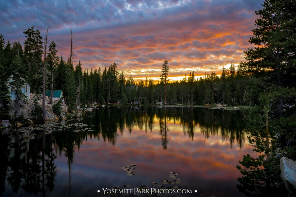 Beautiful Sunset clouds over Mosquito Lake - Ebbetts Pass - High Sierra photos
