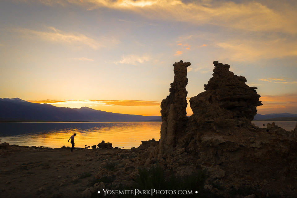 Orange Tourist + Tufa Sunset Silhouettes