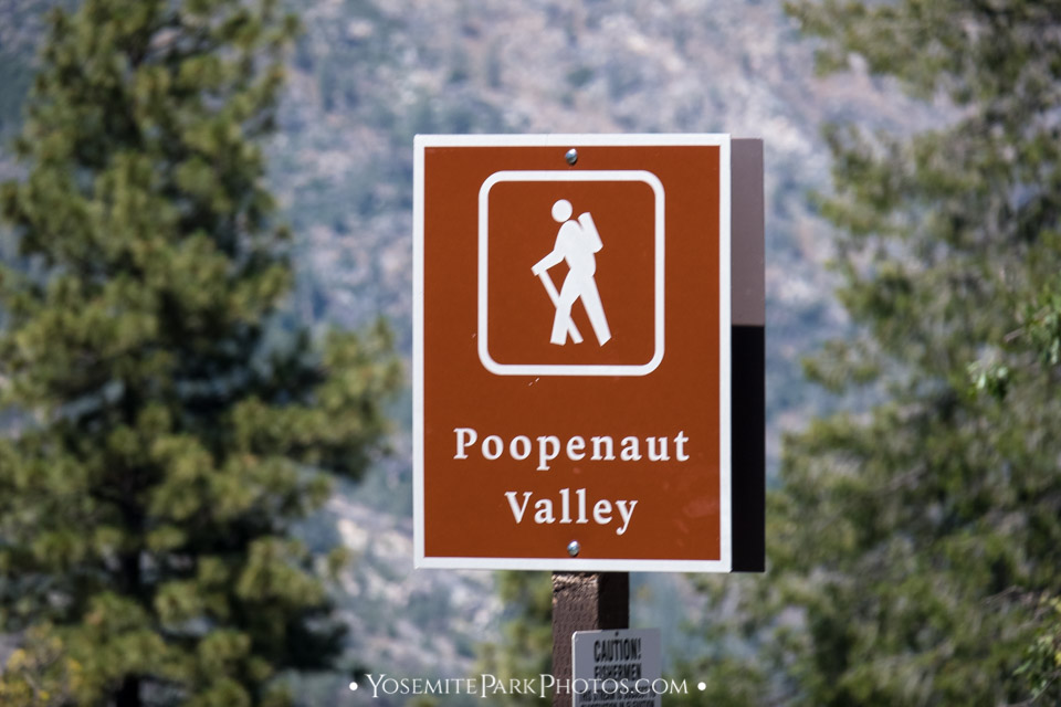 Trailhead sign - Poopenaut Valley hike photos