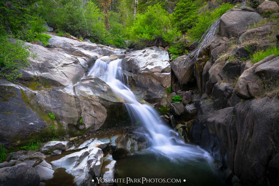 Raymond Creek Falls - a waterfall on Highway 4 - Ebbetts Pass Photos