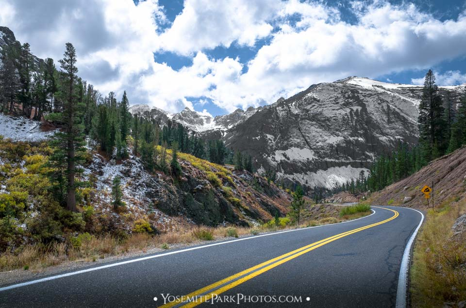 Sonora Pass and Majestic, Snowy Mountain Peaks - June