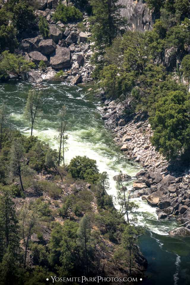 Rugged terrain and rapids on the Tuolumne River