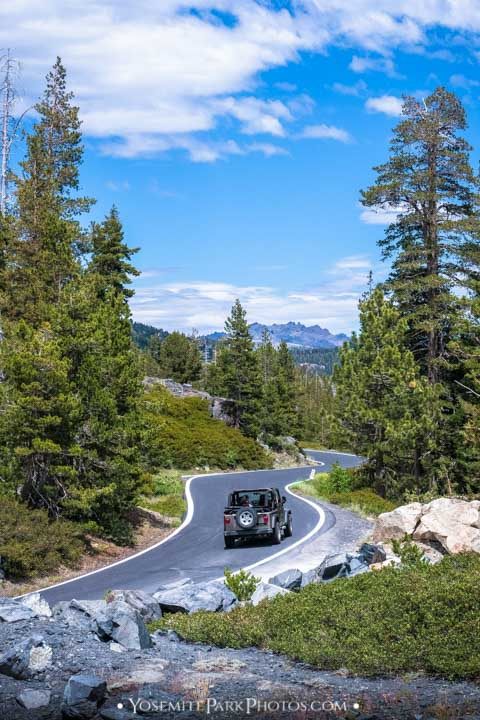Weekenders Driving in jeep - Ebbetts Pass Road trip