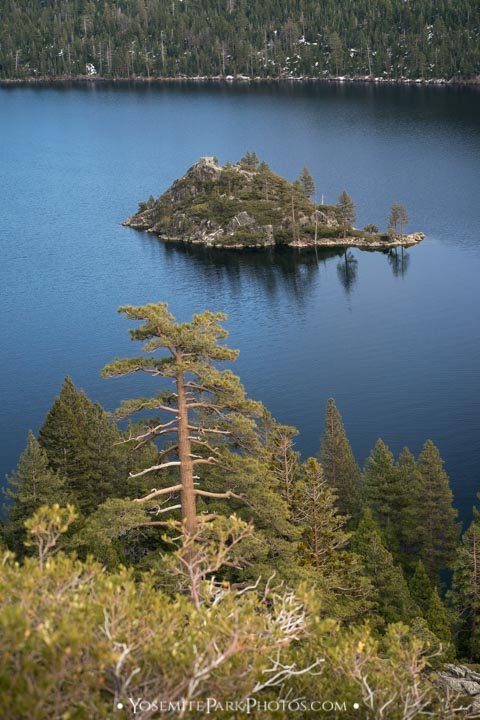 Wizard Island at Emerald Bay - portrait