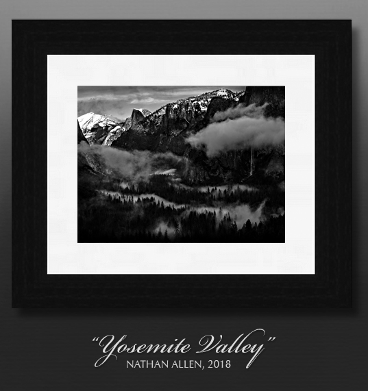 B&W Wall Art- Yosemite framed prints