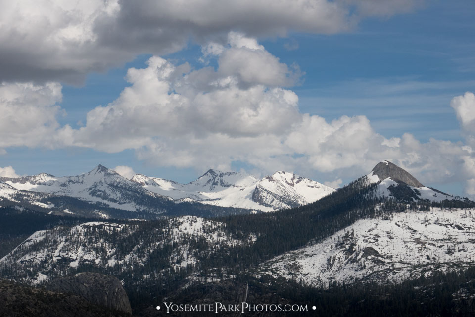 Snow capped peaks in spring - Mt. Starr King and other crests.